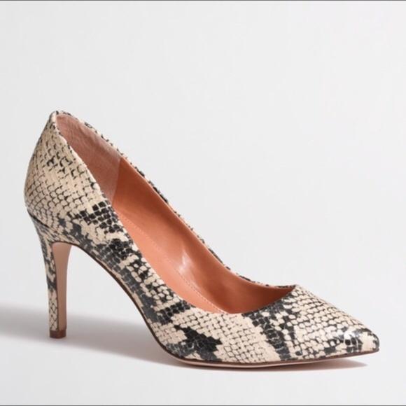 5c0f1ab6d380 J. Crew Factory Shoes - J. Crew Factory Isabelle Snakeskin Pumps